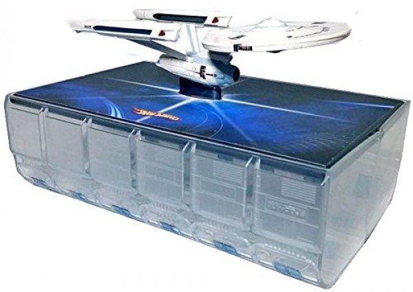 U.S.S. Enterprise NCC-1701 Modell Star Trek Hotwheels mit Spacedock Comic Con Exclusive 2009