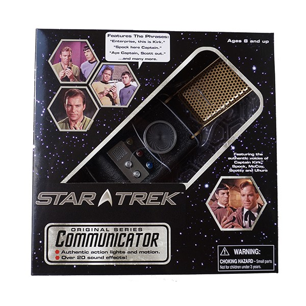 Classic Communicator Replika mit Metallgitter Star Trek