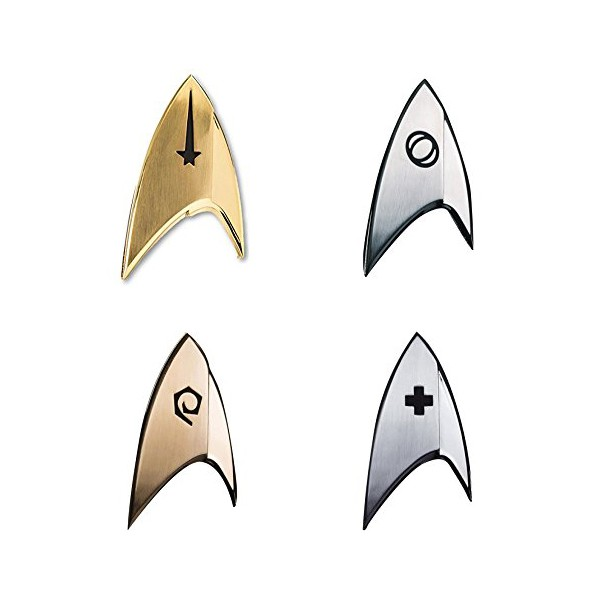 Discovery Uniform Abzeichen Set Science, Command, Operations, Medical - Star Trek