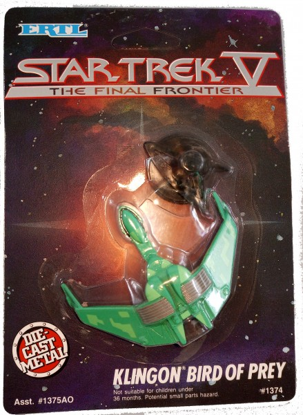 Klingon Bird-of-Prey Raumschiff Modell Star Trek - ca. 6 cm