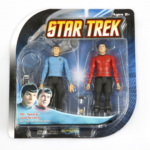 Raumschiff Enterprise Crew 6 Action Figuren komplettes Set Star Trek