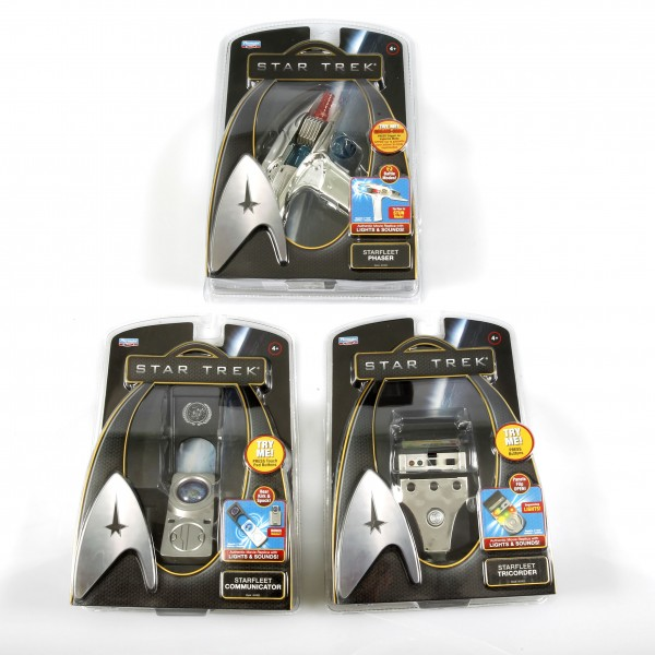 Starfleet Communicator & Phaser & Tricorder Set mit Licht und Sound Star Trek