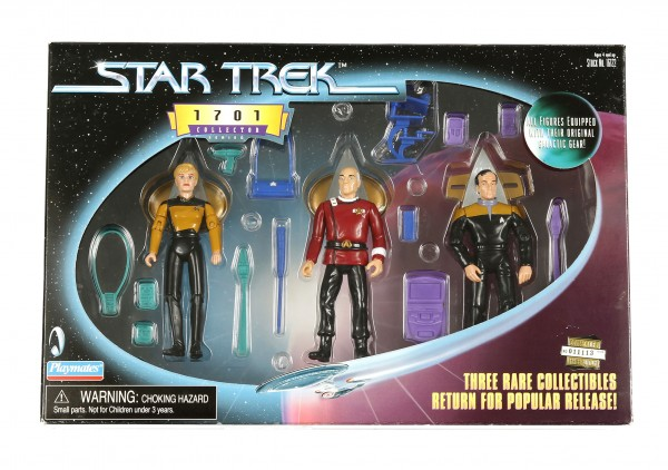 Action Figuren Set Picard, Yar und Barclay Star Trek