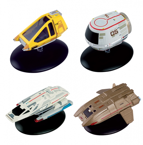 Shuttle Set #3 (Travel Pod, Type-11, Argo, Workbee) - Star Trek Raumschiff Modell