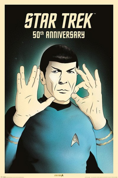 "Poster Spock ""Star Trek 50th Anniversary"" - 50. Jubiläum Star Trek"
