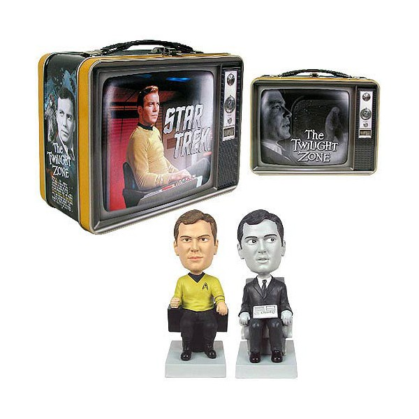 Captain Kirk & Bob Wilson Wackelkopf-Set in Metallbox