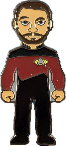 Commander Riker Sammler Pin Star Trek official Collectors Edition