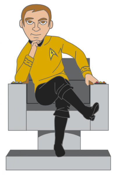 Kirk im Captain Stuhl Sammler Pin Star Trek official Collectors Edition