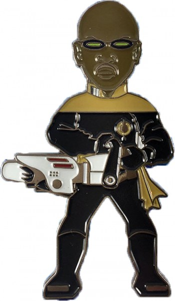 Lieutenant Commander Geordi La Forge Mirror Version Sammler Pin Star Trek official Collectors Edition