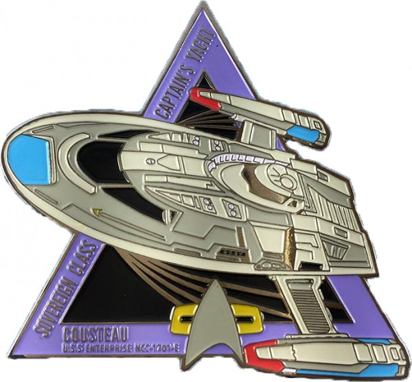 Captains Yacht Cousteau Sammler Pin Star Trek official Collectors Edition