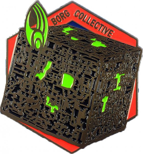 Borg Kubus Sammler Pin Star Trek official Collectors Edition