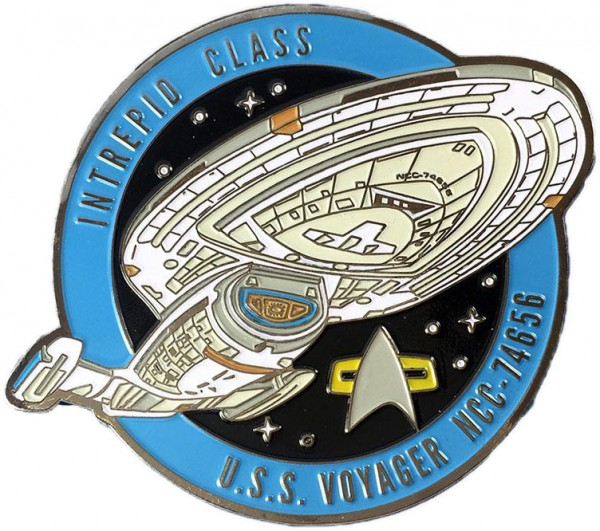 U.S.S. Voyager NCC-74656 Sammler Pin Star Trek official Collectors Edition