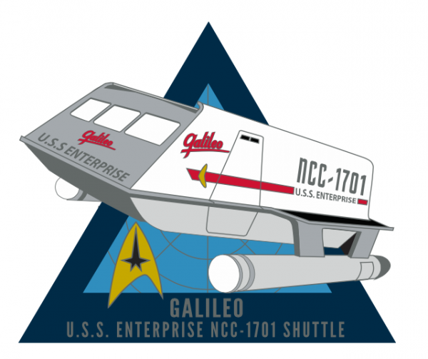 Galileo Shuttle Sammler Pin Star Trek official Collectors Edition