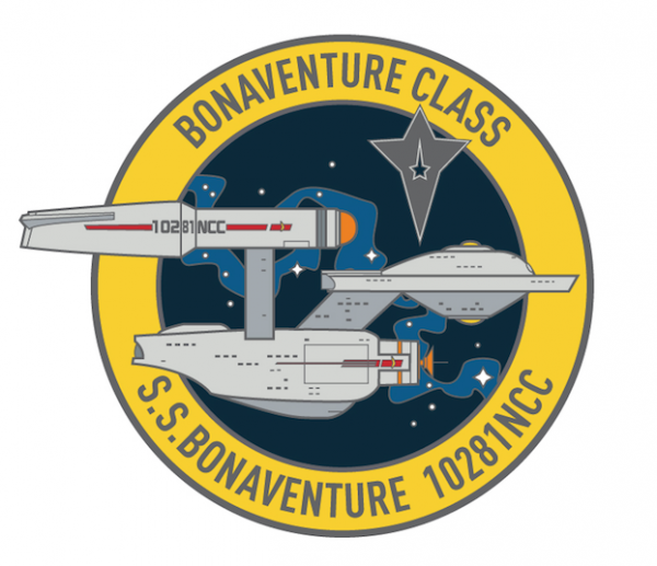 S.S. Bonaventure 10281NCC Sammler Pin Star Trek official Collectors Edition