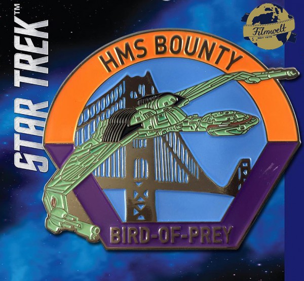 HMS Bounty Bird-of-Prey Sammler Pin Star Trek official Collectors Edition
