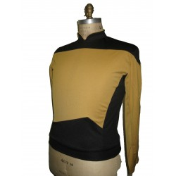 Next Generation Uniform Shirt - Gold Engineering - Deluxe - Star Trek