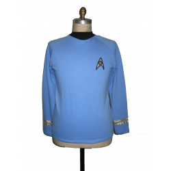Raumschiff Enterprise Uniform Shirt - Science Blau - Super deluxe Baumwolle - Star Trek TOS Classic