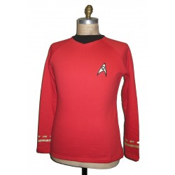 Raumschiff Enterprise Uniform Shirt - Operations Rot - Super deluxe Baumwolle - Star Trek TOS Classic