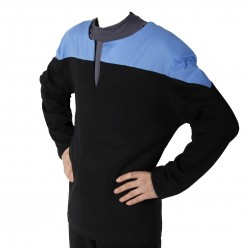 Voyager Uniform Shirt - Science Blau - Deluxe - Star Trek