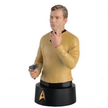 Captain James T. Kirk Star Trek Büste mit englischem Magazin Eaglemoss