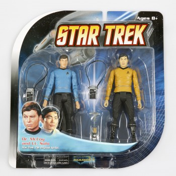 Dr Mc Coy + Lt. Sulu - Action Figuren 2 Pack - Raumschiff Enterprise Star Trek