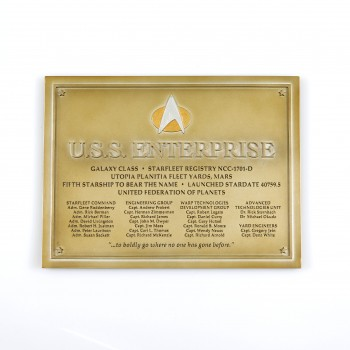 U.S.S. Enterprise NCC-1701-D  - Widmungs Plakette Star Trek