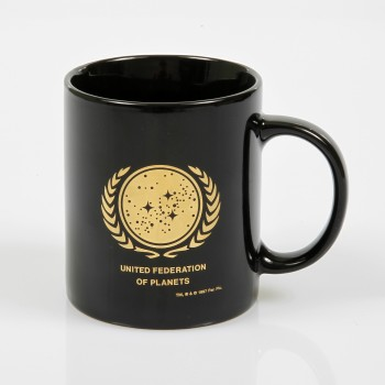 United Federation of Planets Logo Tasse - gold Auflage Filmwelt Berlin Star Trek