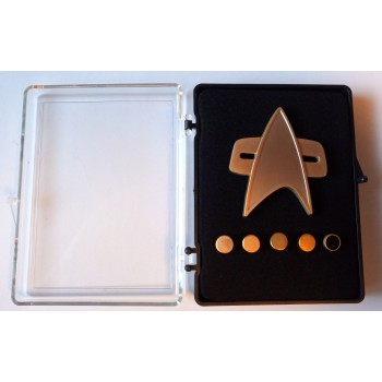 Mattes Communicator + Rankpin Set - Voyager + DS9 - 6teilig - Star Trek