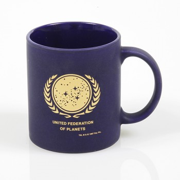 Tasse Star Trek United Federation of Planets - matt limitierte Goldauflage