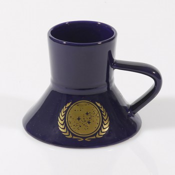 Warp Speed Tasse UFP - United Federation of Planets blau - 24-Karat Star Trek