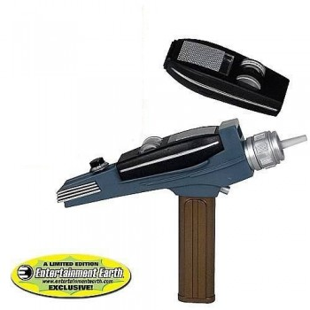 Star Trek Classic Communicator  und Phaser mit goldenem Griff - Set