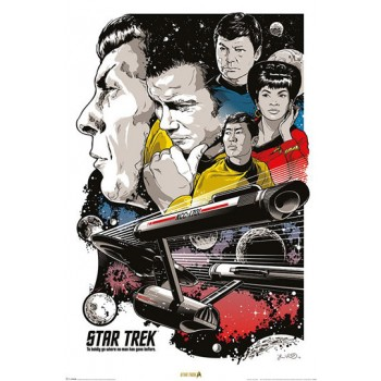 "Poster Boldly Go ""Star Trek 50th Anniversary"" - 50. Jubiläum Star Trek"