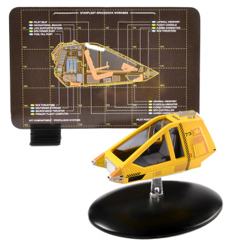 Workbee shuttle (Earth Spacedock) - Star Trek Raumschiff Modell mit englischem Magazin