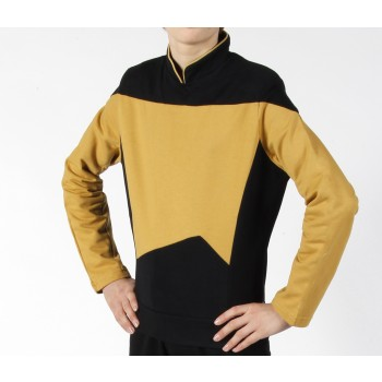 Next Generation Uniform Shirt Science Gold - super deluxe Baumwolle - Star Trek