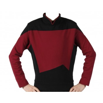 Next Generation Uniform Shirt - Rot Captain - super deluxe Baumwolle - Star Trek