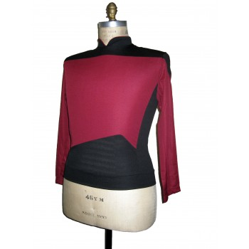 Next Generation Uniform Shirt - Command Rot - Deluxe - Star Trek