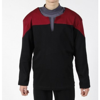 Voyager Uniform Shirt - Command Rot S - Baumwolle - Star Trek