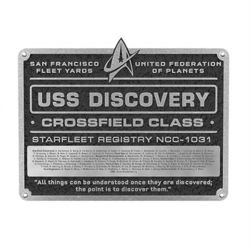 U.S.S. Discovery NCC-1031 - Star Trek Discovery Widmungs Plakette