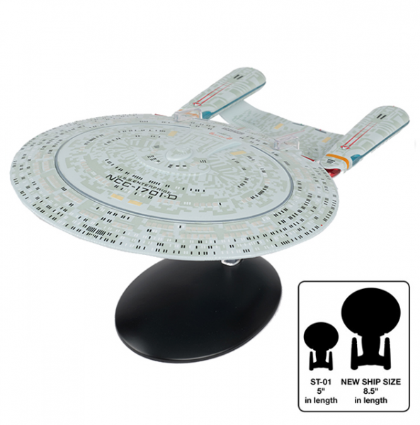 U.S.S. Enterprise NCC-1701-D XL approx. 22cm Star Trek starship model with english magazine