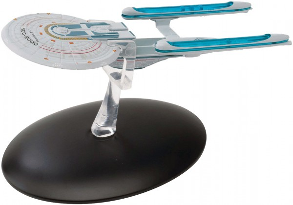 U.S.S. Excelsior NCC-2000 starship model with english magazin #8 Eaglemoss Star Trek