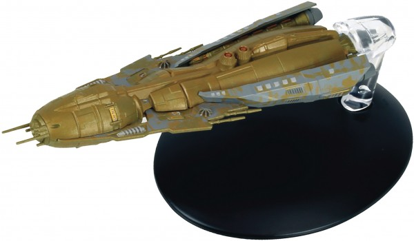 Hirogen Holoship Star Trek model with english magazin #119 Eaglemoss