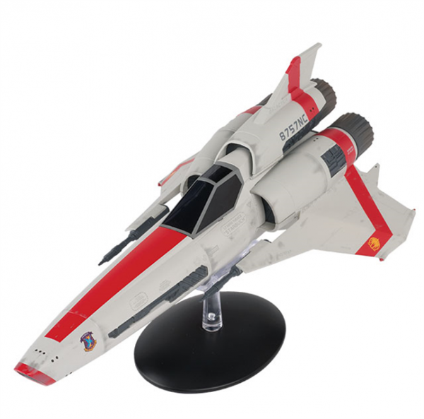 Viper Mark II limited Apollo Version starship model with englisch magazin #1 Eaglemoss - Battlestar Galactica