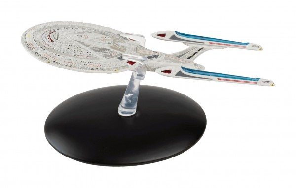USS Enterprise NCC-1701-E starship model with english magazine #21 Eaglemoss Star Trek