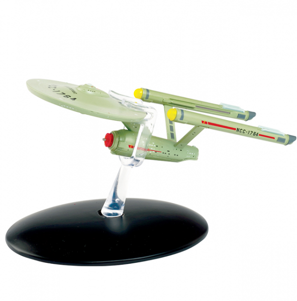 U.S.S. Defiant (Glow in the Dark) NCC-1764 Special Edition Star Trek Starship model with English magazine Eaglemoss
