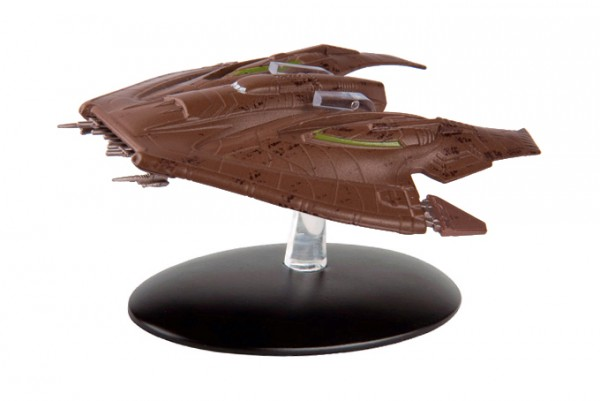 Nausicaan Fighter starship model with english magazine #30 Eaglemoss Star Trek