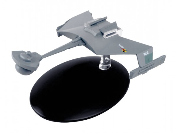 Klingon D7-Class Battle Cruiser starship model with english magazine #67 Eaglemoss Star Trek