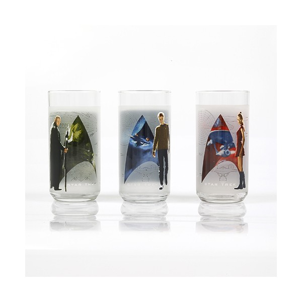 Glasses Set of 3 pieces Star Trek