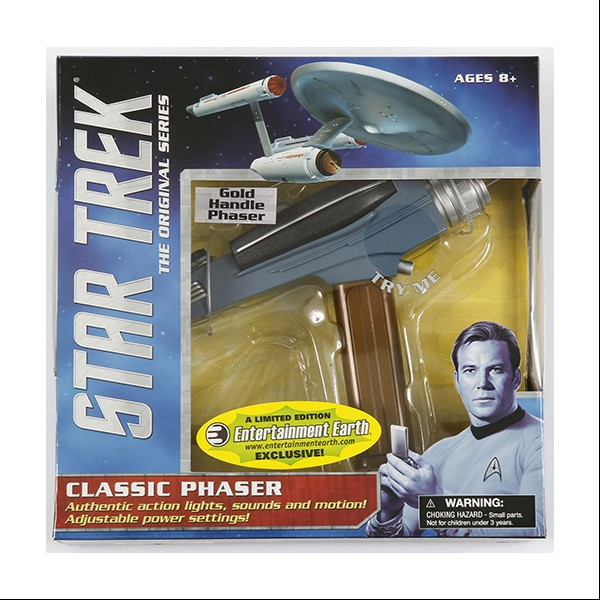 Star Trek Classic Phaser with gold handle