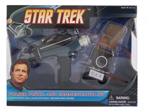 Starship Enterprise Phaser and Communicator Set Star Trek