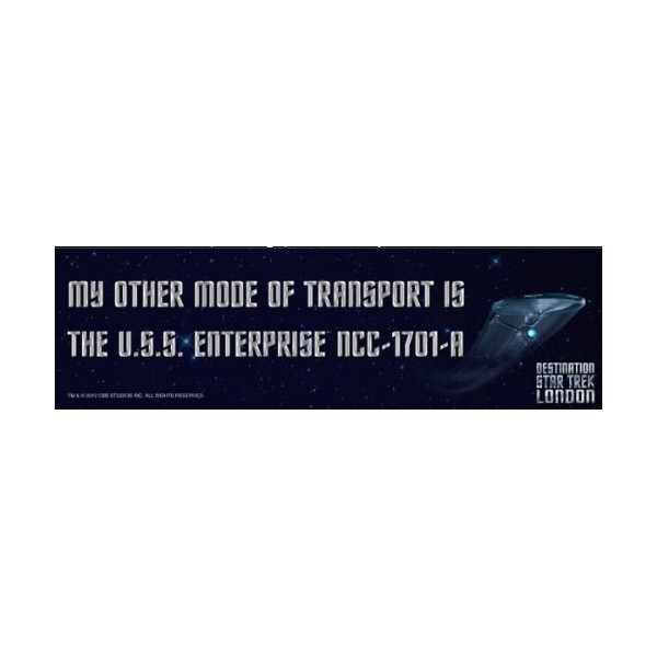 Car Decal U.S.S. Enterprise NCC-1701-A Star Trek